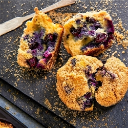 Picture of Gluten Free Blueberry Crumb Muffins