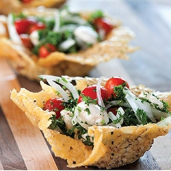 Picture of Parmesan Cups with Tomato-Parsley Salad