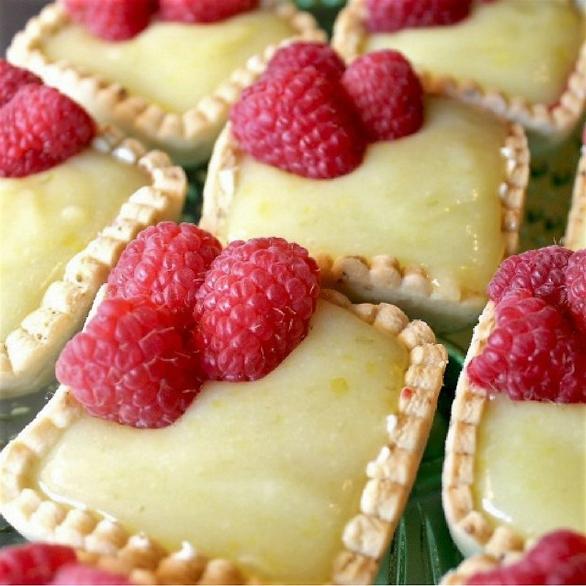 Picture of Raspberry Key Lime Tartlets with Pistachio Crust