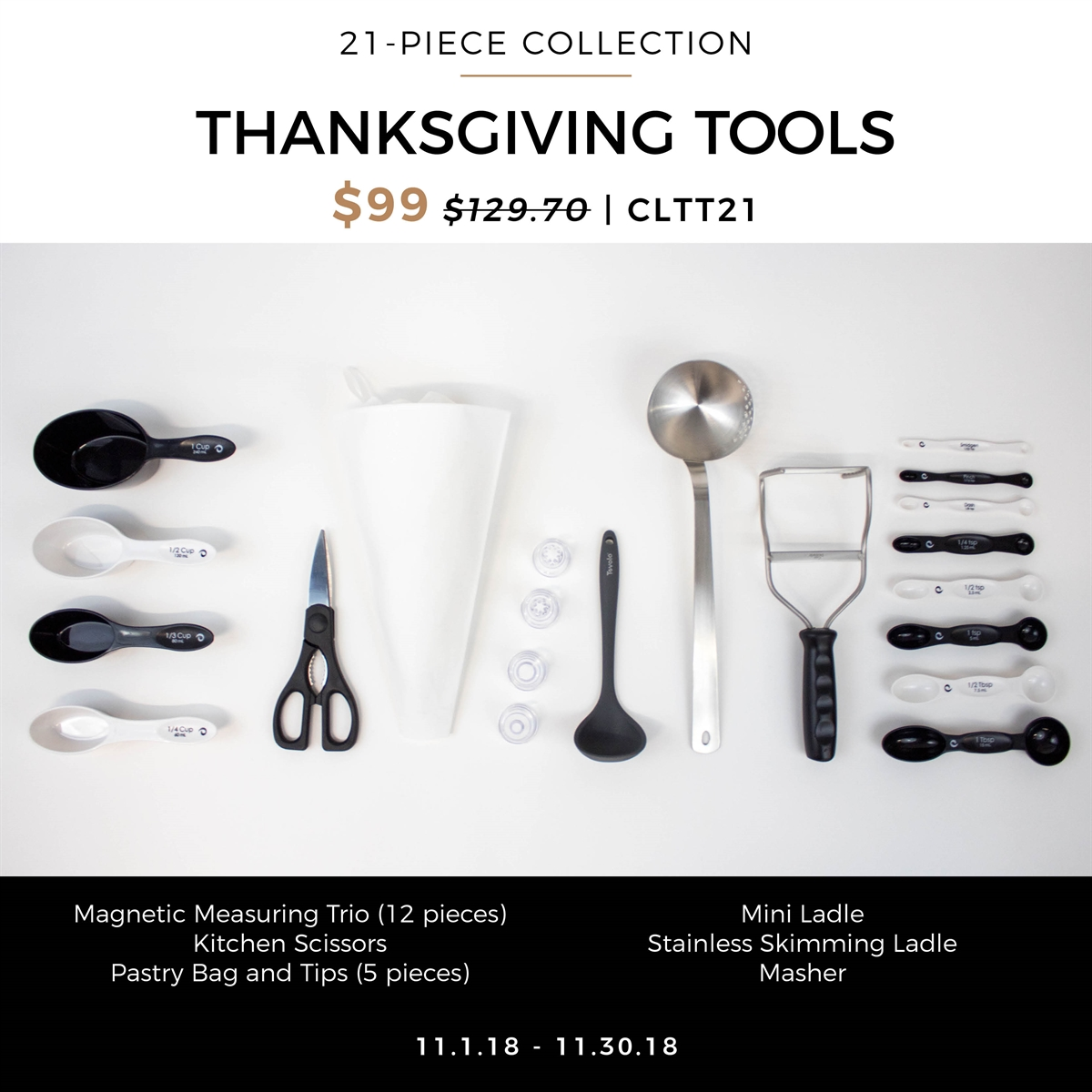 Picture of THANKSGIVING TOOLS 21 -PIECE COLLECTION